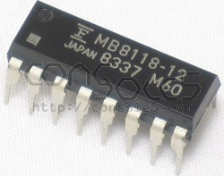 16Kb x 1-Bit DRAM: MB8118-12 - New! (4516 RAM Substitute)
