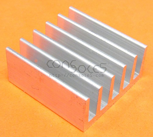 "1"" (25mm) Low Profile Square Aluminum Heat Sink"