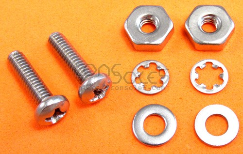 "Pair of #5 Screws, Nuts, and Washers - All Stainless, 1/8"" Diameter"
