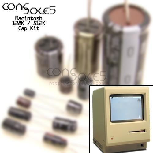 Macintosh 128K / 512K / Mac Original Nichicon VX Axial Electrolytic Main PCB Cap Kit
