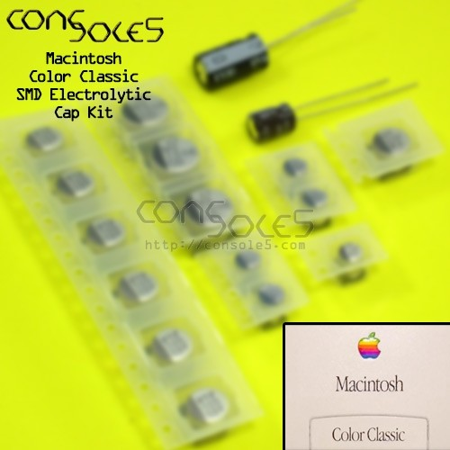 Macintosh Color Classic / LC 550 SMD Electrolytic Main PCB Cap Kit Colour Classic LC550