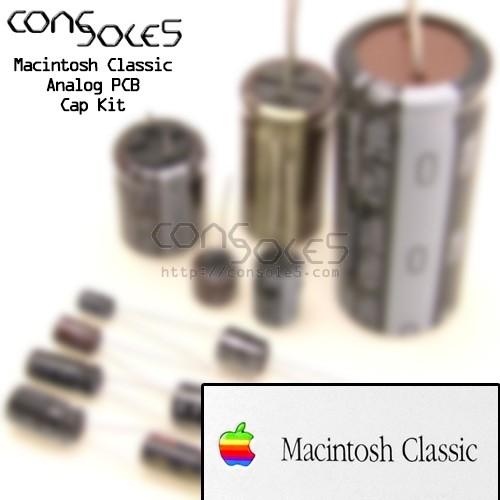 Macintosh Classic Analog PCB Cap Kit for p/n 630-0420 - 240v