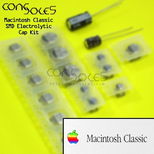 Macintosh Classic Electrolytic SMD Main PCB Cap Kit