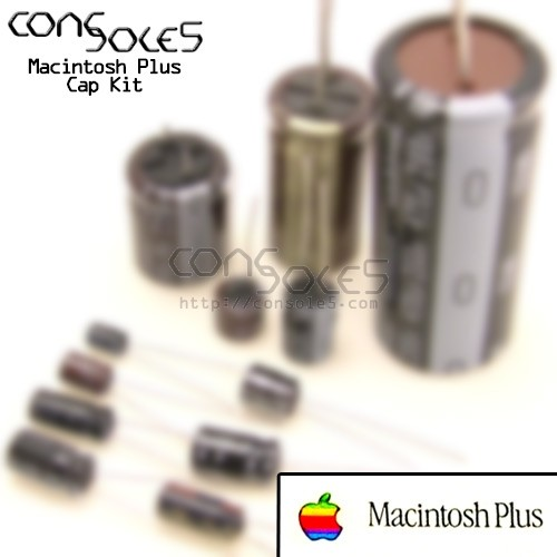 Macintosh Plus Nichicon VX Axial Electrolytic Main PCB Cap Kit