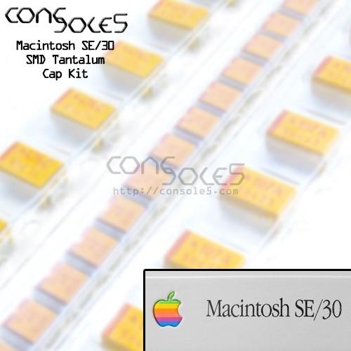 Macintosh SE/30 SMD Tantalum & Axial Capacitor Main PCB Cap Kit