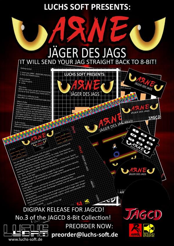 ARNE - Jäger des Jags - 2015 Release! (Atari Jaguar CD)