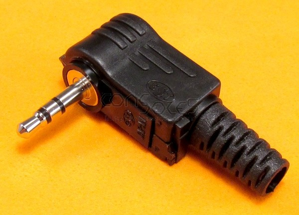 Miniature TRS Right-Angle 2.5mm Jack - 3 Conductor Stereo Phone Plug