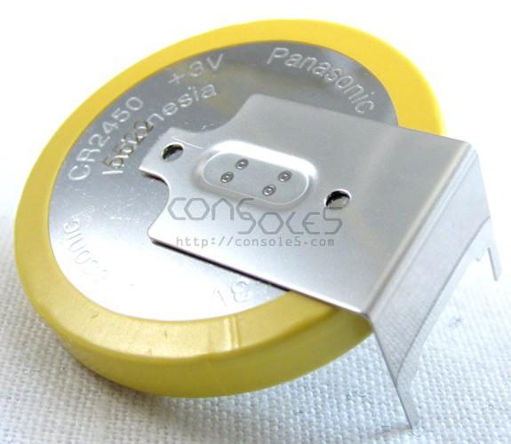 Panasonic CR2450 Battery, Solder Tabs Pins (SegaCD Memory Cart, 3DO)