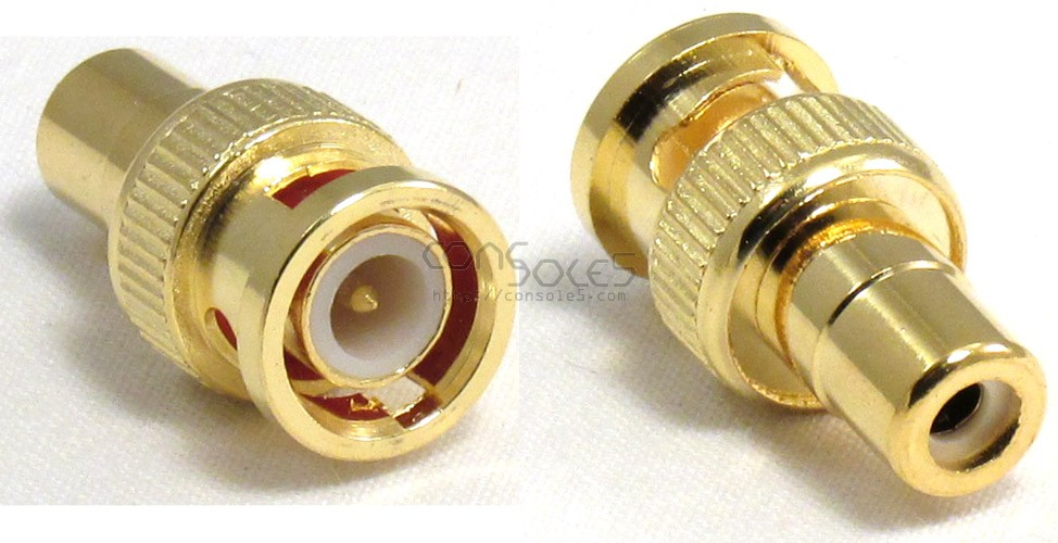 BNC Male to RCA Female Adapter Connector - Gold Plated