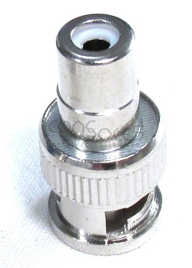 BNC Male to RCA Female Adapter Connector - Nickel Plated