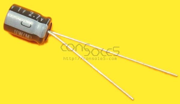 1F 2.7v Supercapacitor - Vertical Super Capacitor Nichicon 70c - Xbox clock cap replacement