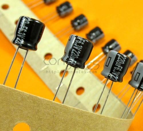 220uF 6.3v Miniature Panasonic General Purpose Electrolytic Capacitor for SCART / RGB