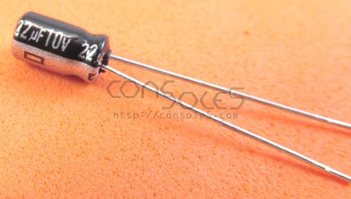 22uF 10v Miniature Electrolytic Capacitor For Game Cartridges (+more)