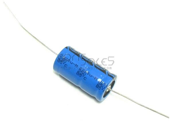 2200uF 25v Axial Vishay Electrolytic Capacitor, 8000 Hrs 85°C 2,200uF