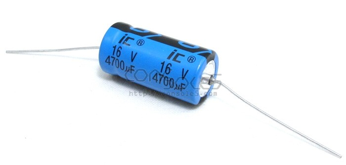 4700uF 16v Axial Illinois / Cornell Dubilier Capacitor, 85°C 4,700uF