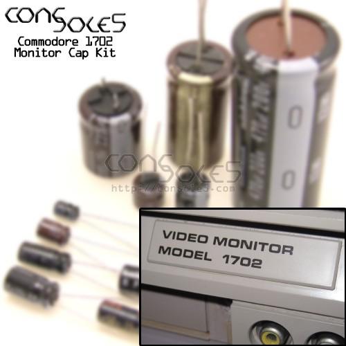 Commodore 1702 & 1702T Monitor Cap Kit (110v, NTSC)