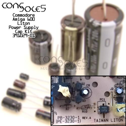 Commodore Amiga 600 Power Supply Cap Kit 391029-01