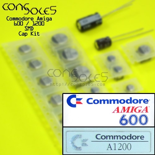 Commodore Amiga 600 / 1200 Surface Mount SMD Cap Kit