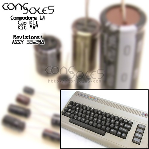 "Commodore 64 C64 Cap Kit ""A"" - ASSY 326298"