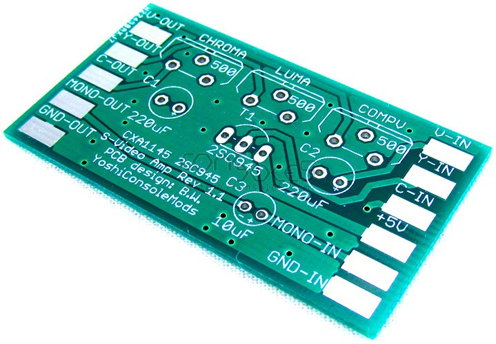 CXA1145 S-Video and Composite Video Mod PCB (2SC945)