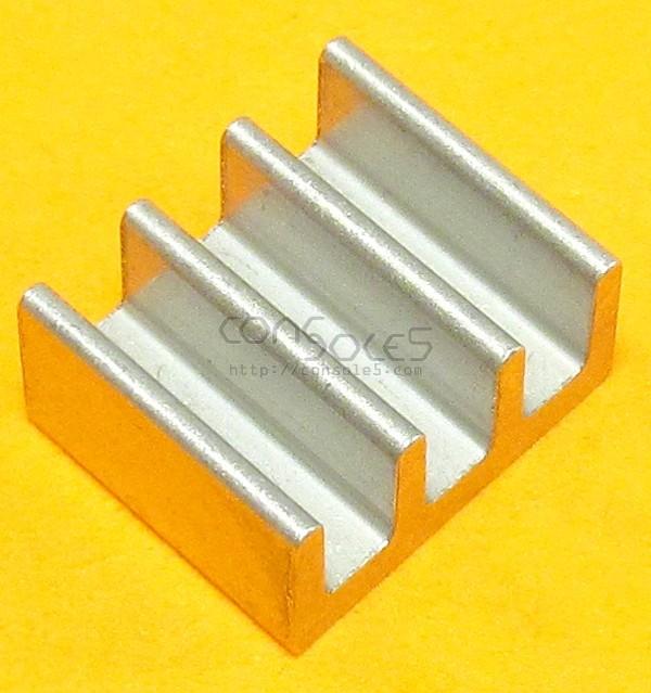 DIP14, DIP16, DIP18 Aluminum Heat Sink: Glue / Epoxy On (DIP 14 16 18) (Size revision note)