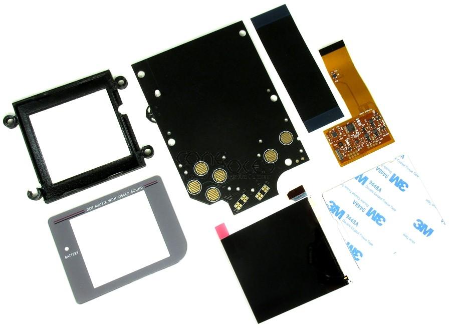 FunnyPlaying DMG RETRO PIXEL IPS LCD KIT - Game Boy DMG-01 Modern IPS LCD Kit + Bracket