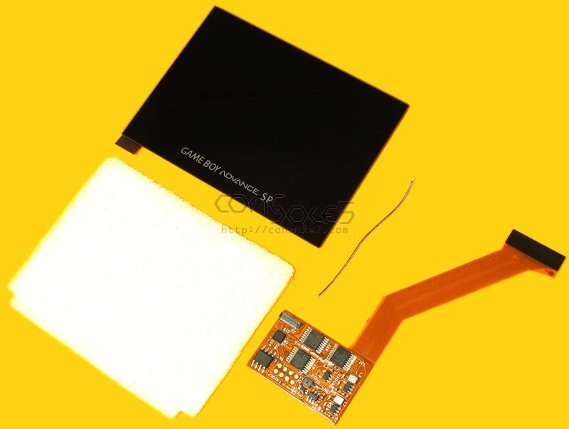 FunnyPlaying Nintendo Game Boy Advance SP Modern IPS Backlit LCD Upgrade Kit - GBASP