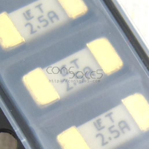 Fuse: 125V, 2.5A SMD Nano, Littelfuse (Sega CD)