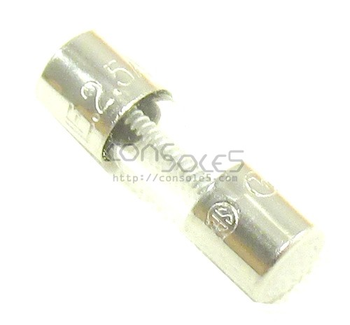 Macintosh Analog Board Fuse: 2.5A, 250V for fuse holders - 15mm