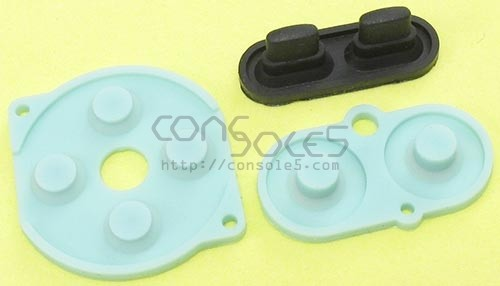 Game Boy Color Replacement Controller Silicone Rubber Carbon Dot Pads GBC