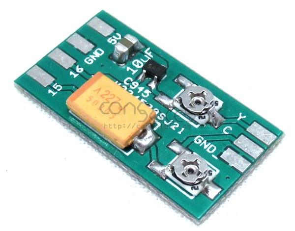 Miniature Surface Mount CXA1145 S-Video and Mod PCB / Parts Kit (2SC945)