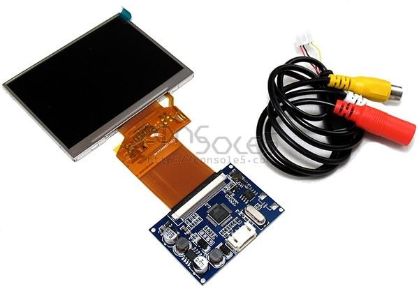 "Universal 3.5"" Composite Video LCD Module & RCA, 320x240, Compact PCB"
