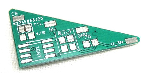 LM1881 Sync Cleaner PCB, Capacitors, and Resistors