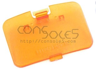 Nintendo 64 N64 Replacement Memory Expansion Cover / Door-Fire Orange