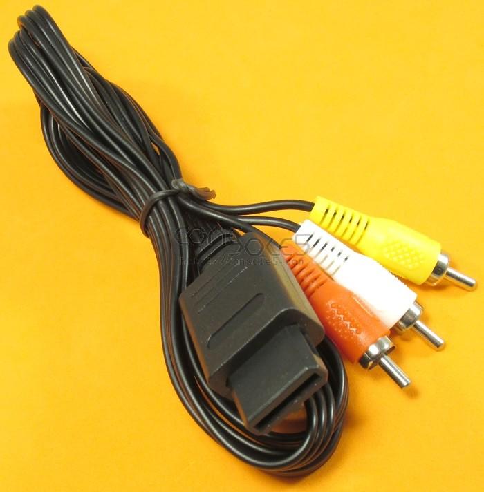 Nintendo SNES / Super Famicom / GameCube / N64 Stereo Composite Video AV Cable