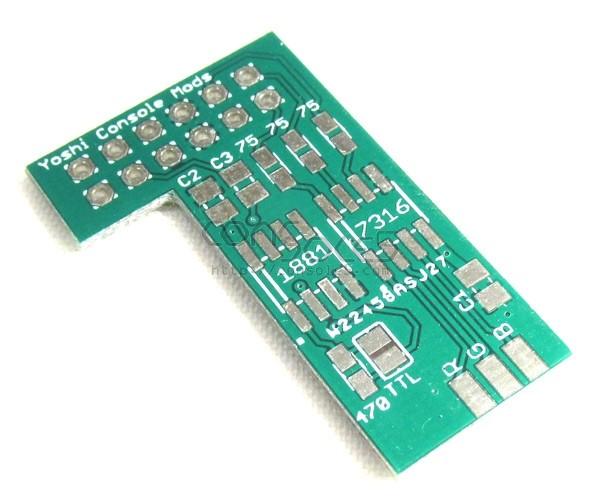 Nintendo N64 MultiAV Add-On PCB + 7316 IC + Caps / Resistors