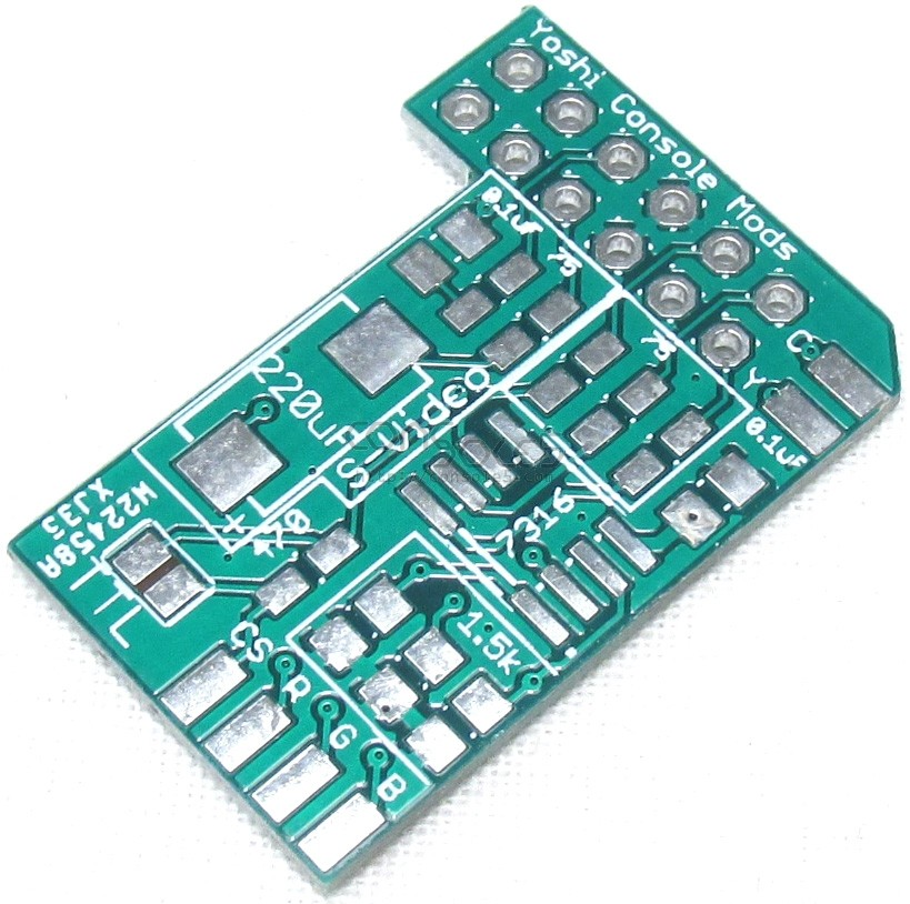 Nintendo N64 & SNES Jr. MultiAV Add-On PCB