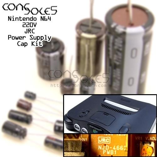 N64 Nintendo 64 220v Power Supply Cap Kit - JRC