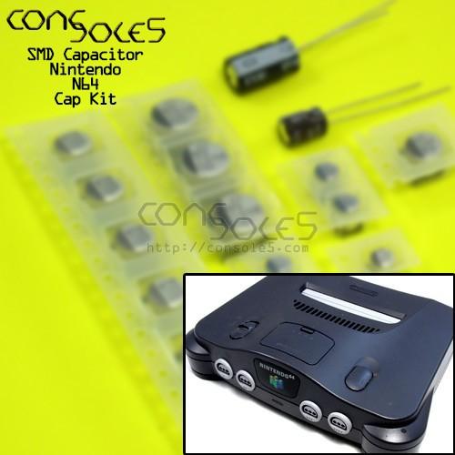 N64 Nintendo 64 SMD Cap Kit