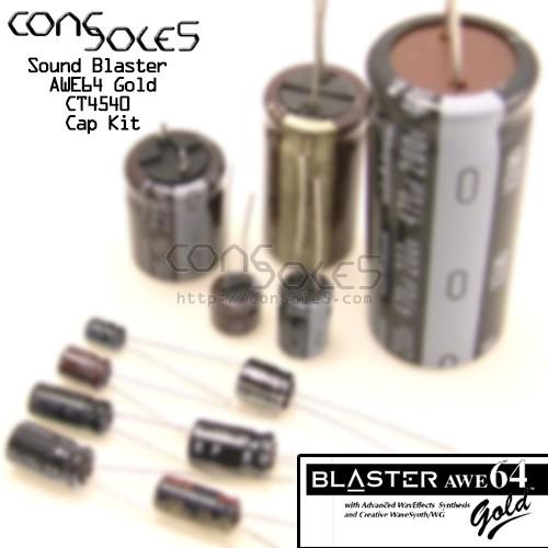 Creative Labs Sound Blaster AWE64 Gold CT4540 ISA Sound Card Cap Kit