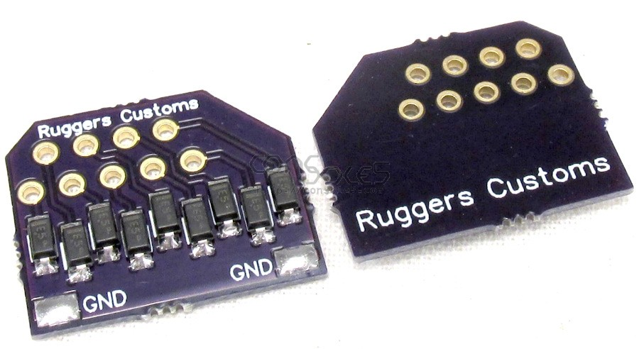 Ruggers Customs Anti Static D9 Joystick Port ESD Protector Set: Pair of Static protection PCB