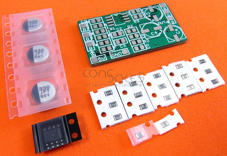 RGB PCB kit for NEC Turbo Grafx, Turbo Duo, PC-Engine THS7316