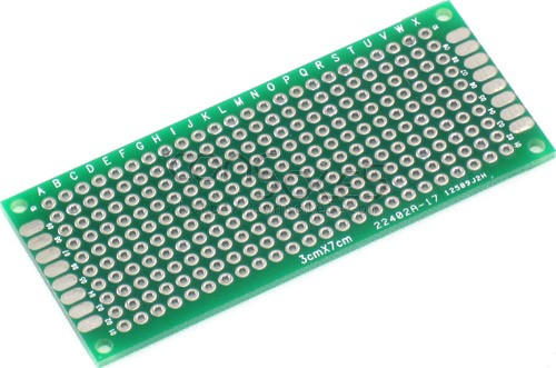 perforated prototype pcb boards 3cm x 7cm rh console5 com Circuit Board Game Project Perf Board Soldering