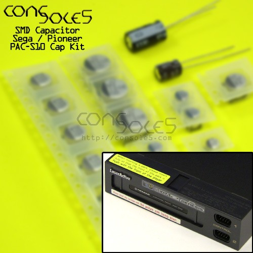 Pioneer / Sega PAC-S1 / PAC-S10 Laseractive SMD Cap Kit