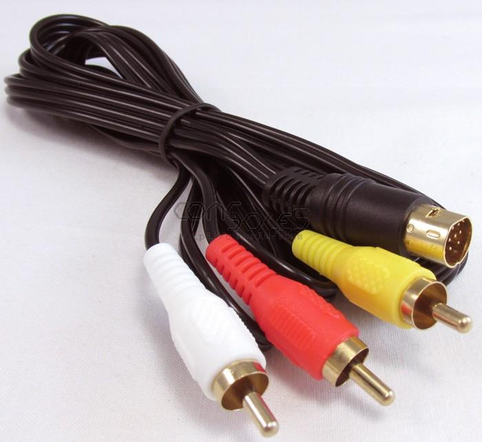 Sega Genesis 2 / 3 / CDX / Nomad Stereo AV Video Cable Gold Plated