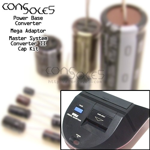 Power Base Converter / Mega Adaptor / Master System Converter II Cap Kit