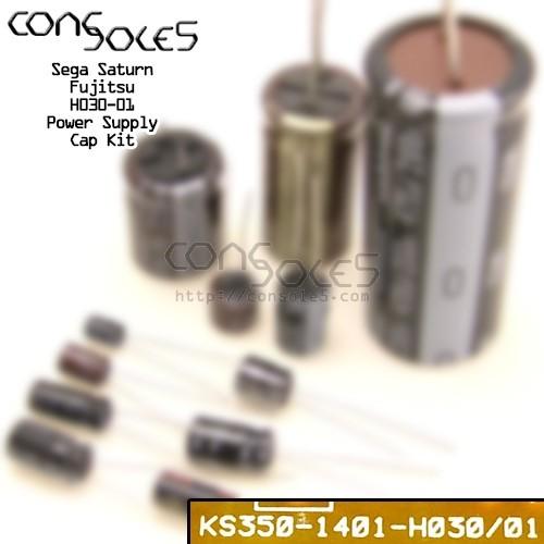 Sega Saturn Power Supply Cap Kit: Fujitsu KS350: H030/01 (7 piece kit)