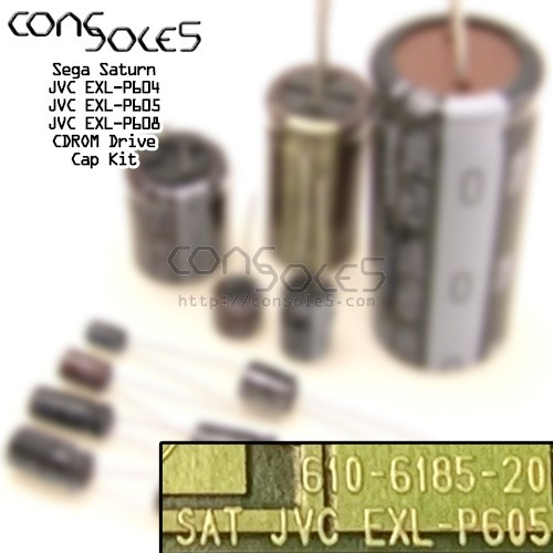 Sega Saturn CDROM PCB Cap Kit: JVC EXL-P604 EXL-P605 EXL-P608