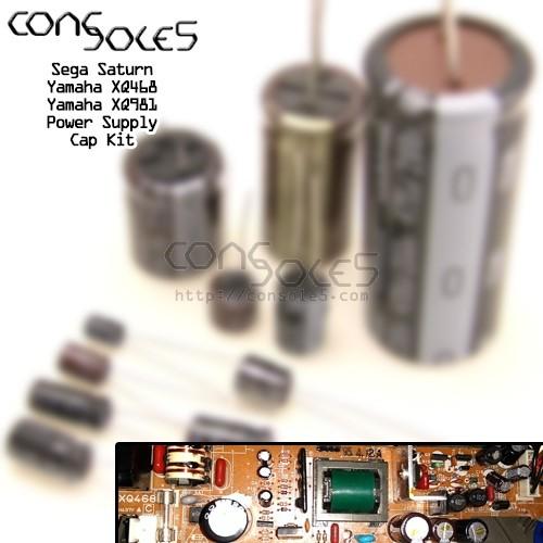 Sega Saturn Power Supply Cap Kit: Yamaha XQ468 / XQ981