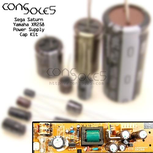 Sega Saturn Power Supply Cap Kit: Yamaha XR258 / 35M07
